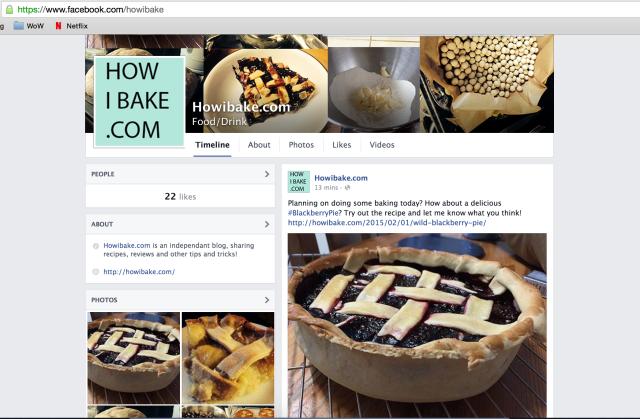 Easy baking recipes on Facebook
