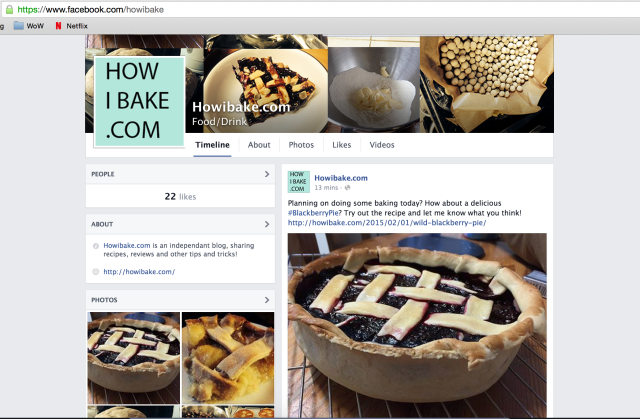 Easy baking recipes on Facebook